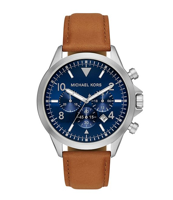 Color:Luggage - Image 1 - Gage Chronograph Luggage Leather Watch