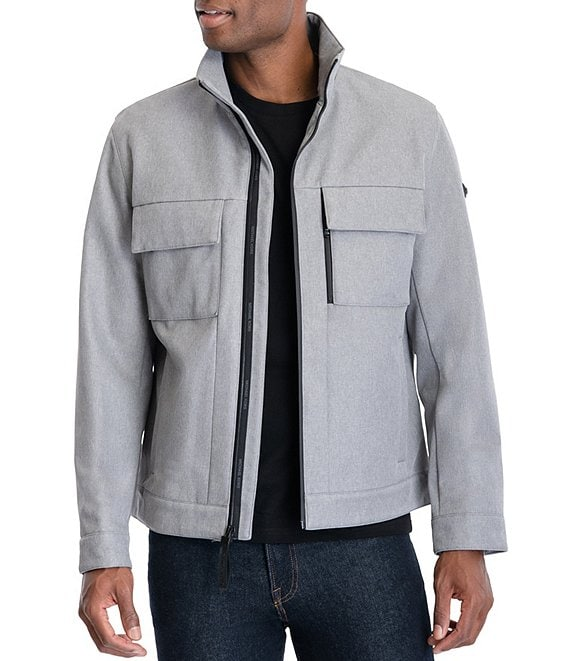 Color:Heather Grey - Image 1 - #double;Granby#double; Soft-Shell Multi-Pocket Hipster Jacket
