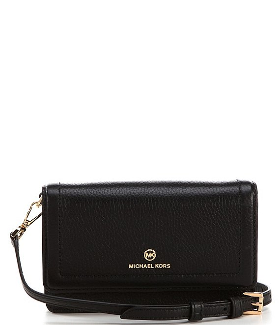 Color:Black - Image 1 - Jet Set Charm Small Phone Crossbody Bag