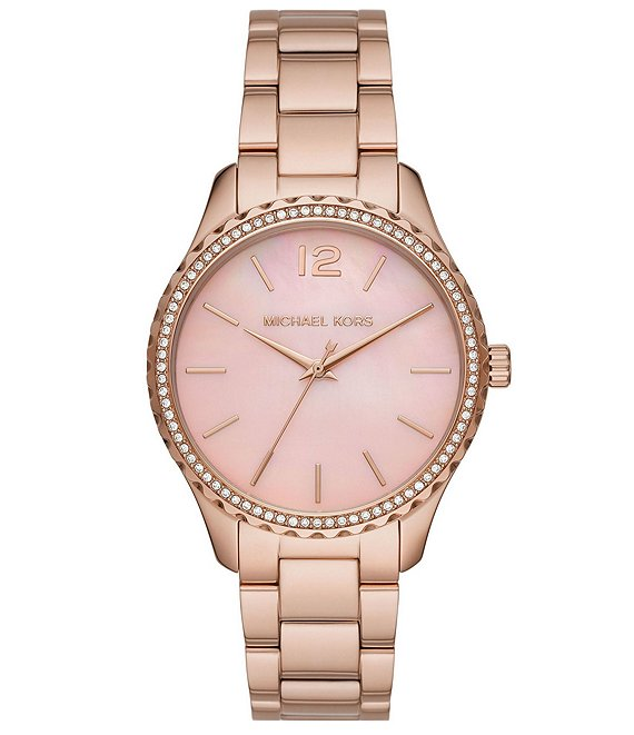 Color:Rose Gold - Image 1 - Layton Three-Hand Rose Gold-Tone Stainless Steel Watch