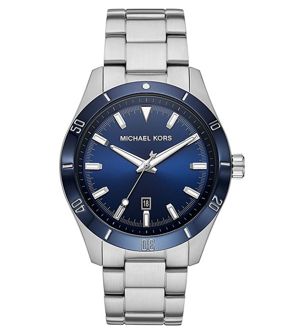 Color:Silver - Image 1 - Layton Three-Hand Stainless Steel Watch