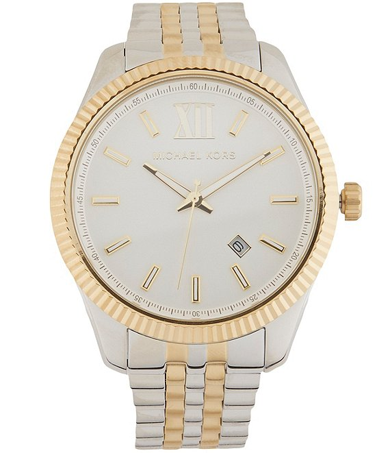 Michael Kors Men's Lexington Three-Hand Two-Tone Stainless Steel Watch