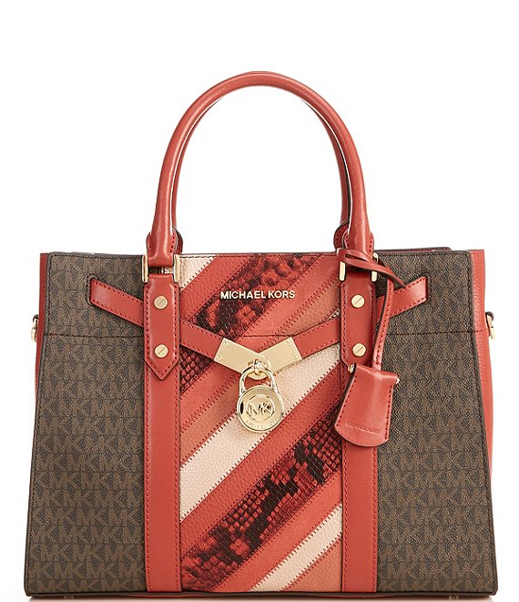 Color:Terracotta Multi - Image 1 - Signature Nouveau Hamilton Large Satchel Bag