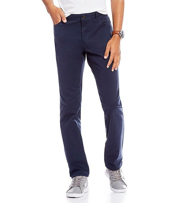Color:Midnight - Image 1 - Slim-Fit Parker Stretch Flat Front Twill Pants
