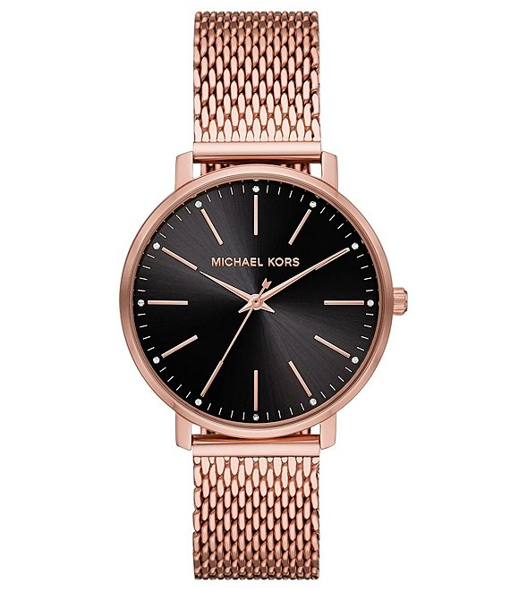 Color:Rose Gold - Image 1 - Women's Pyper Three-Hand Pale Rose-Tone Stainless Steel Watch