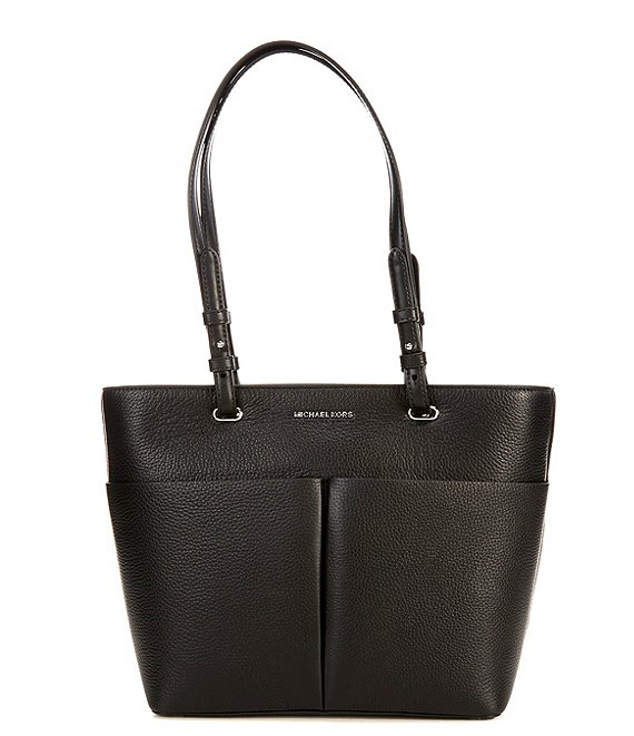 Color:Black/Black - Image 1 - Bedford Medium Top Zip Pocket Tote Bag