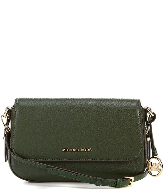 Color:Moss - Image 1 - Bedford Legacy Large Flap Leather Crossbody Bag