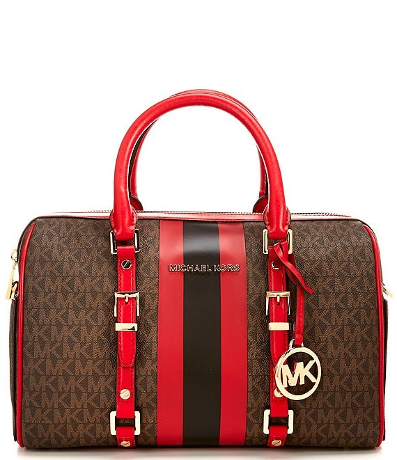MICHAEL Michael Kors Bedford Legacy Signature Medium Duffel Satchel Bag