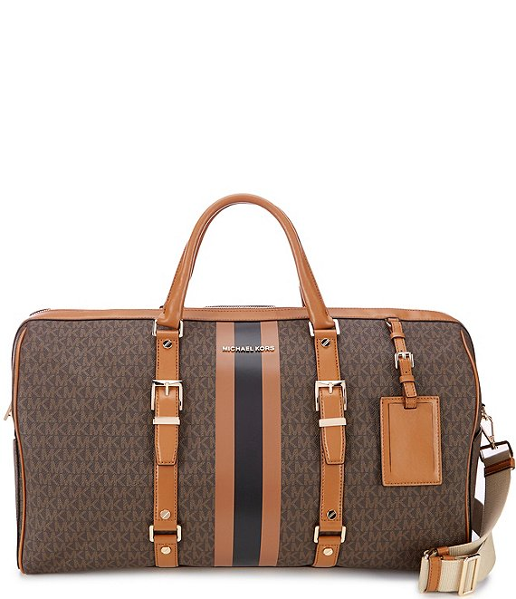 Color:Brown/Acorn - Image 1 - Bedford Travel Signature XL Weekender Bag