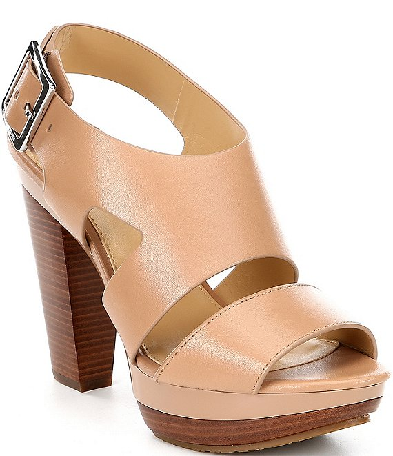 42bfe5345de MICHAEL Michael Kors Carla Leather Platform Block Heel Sandals ...