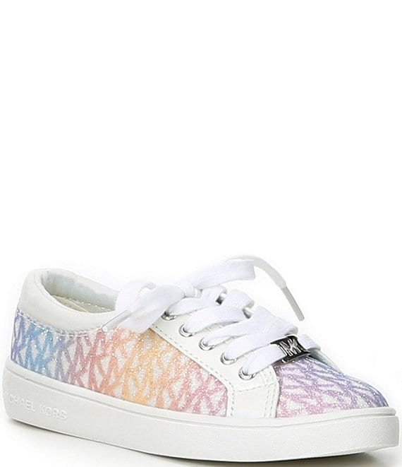 Color:Unicorn Pink - Image 1 - MICHAEL Michael Kors Girls' Jem Miracle Logo Sneakers (Youth)