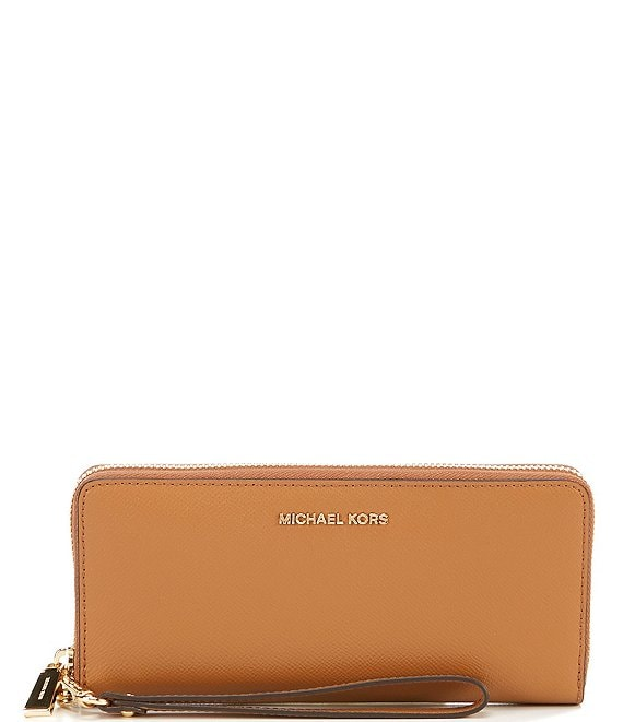 239c5896ab76 MICHAEL Michael Kors Gold-Tone Jet Set Continental Multifunction Phone  Wallet