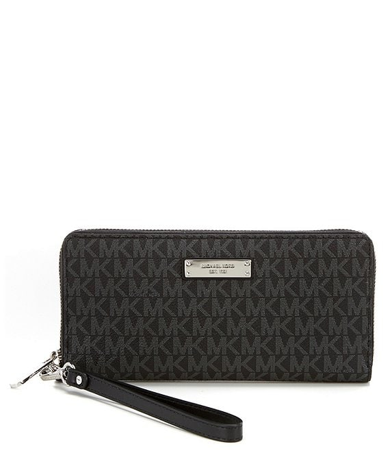 16c433a9b9adcd MICHAEL Michael Kors Jet Set Signature Continental Travel Twill Wallet |  Dillard's