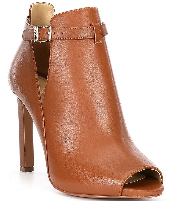 Color:Luggage - Image 1 - MICHAEL Michael Kors Lawson Leather Shooties