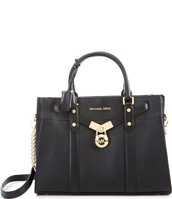 Color:Black - Image 1 - Nouveau Hamilton Large Leather Satchel Bag