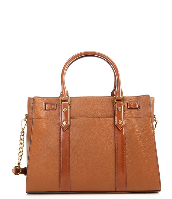 MICHAEL Michael Kors Nouveau Hamilton Large Leather Satchel Bag