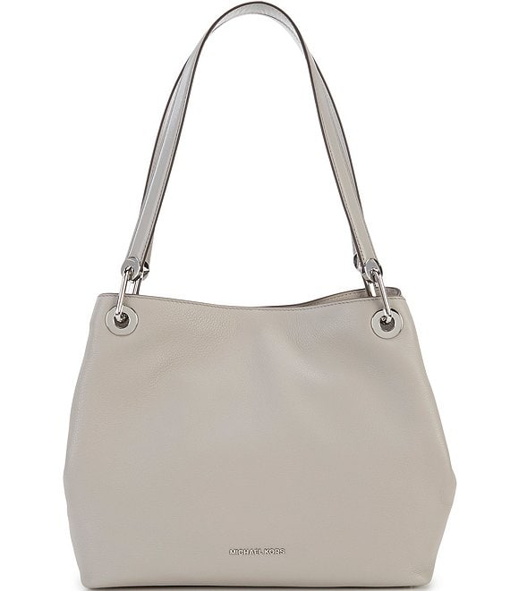MICHAEL Michael Kors Silver-Tone Raven Large Shoulder Bag