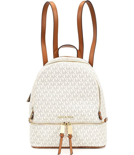 Color:Vanilla - Image 1 - Rhea Signature Medium Backpack