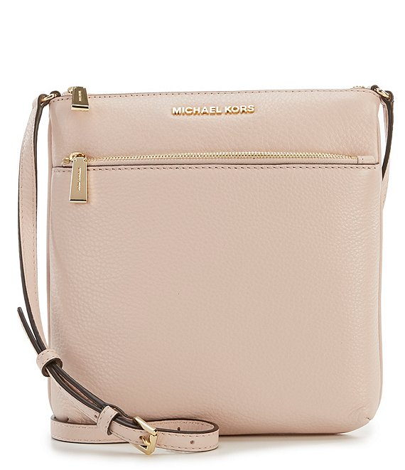 Color:Soft Pink - Image 1 - Riley Small Flat Crossbody Bag