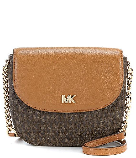 5a0e10413e23 MICHAEL Michael Kors Signature Half Dome Crossbody Colorblock Bag ...