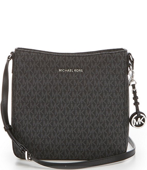 Color:Black - Image 1 - Signature Silver Tone Crossbody Bag