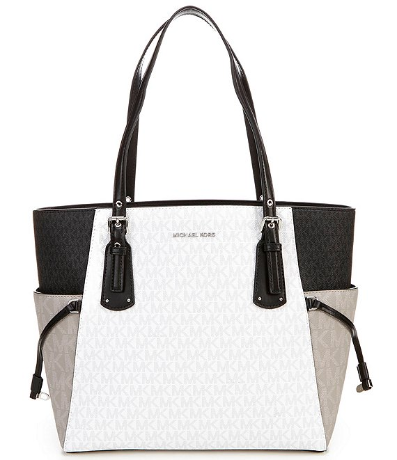 Color:Bright White Multi - Image 1 - MICHAEL Michael Kors Signature Voyager East West Tote Bag