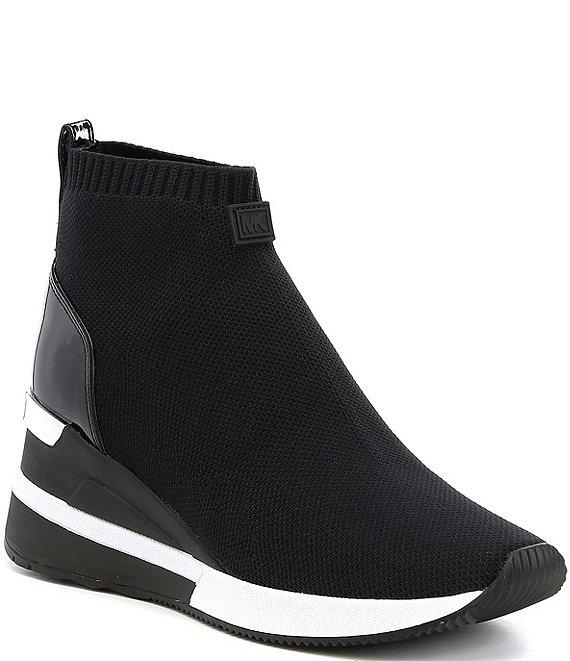 7f34bf4234af MICHAEL Michael Kors Skyler Wedge Sneaker Booties