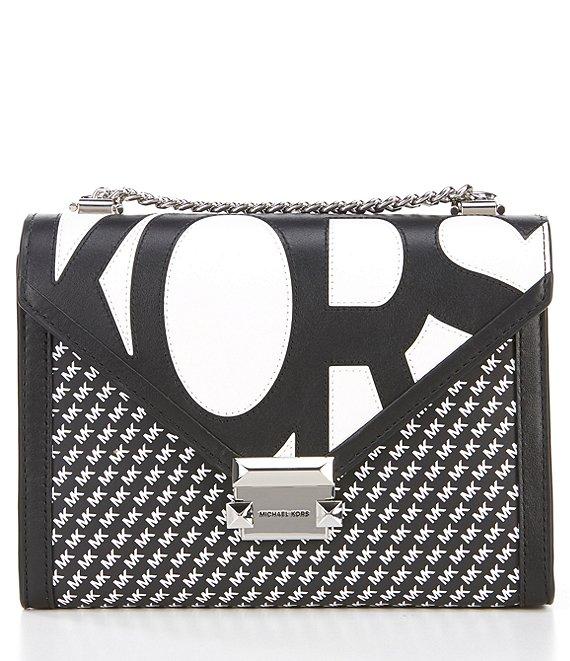 a90c3059698c MICHAEL Michael Kors Whitney Large Black & White Signature Shoulder Bag    Dillard's