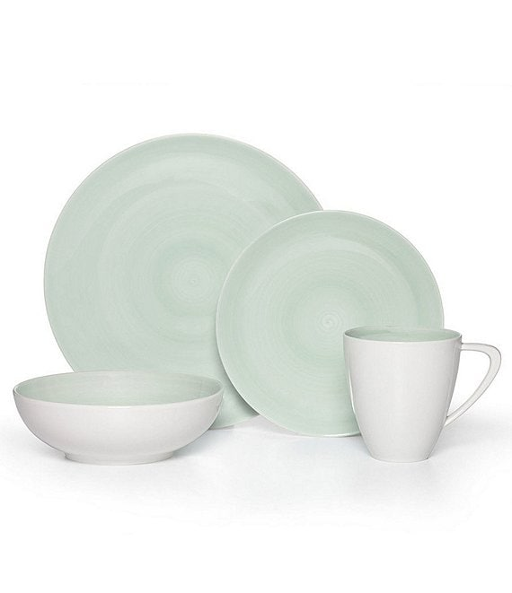 Color:Teal - Image 1 - Savona Teal 16-Piece Dinnerware Set