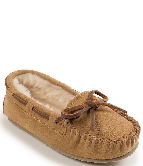 Color:Cinnamon - Image 1 - Kids' Cassie Suede Slippers (Youth)