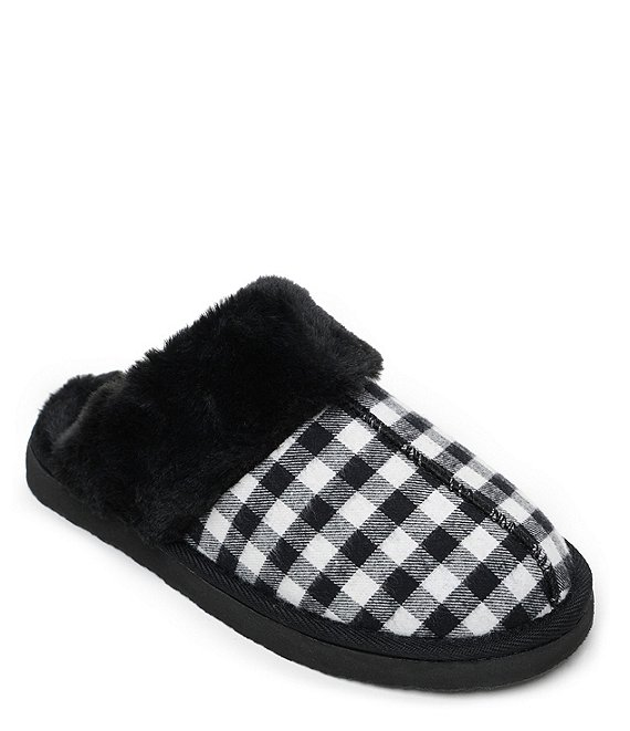 Minnetonka Chesney Plaid Mule Slippers
