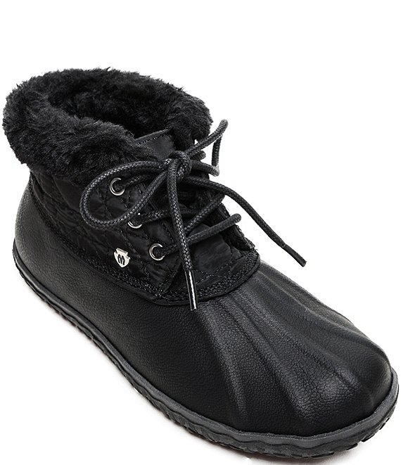 Color:Black - Image 1 - Women's Tega Faux Fur Trim Booties