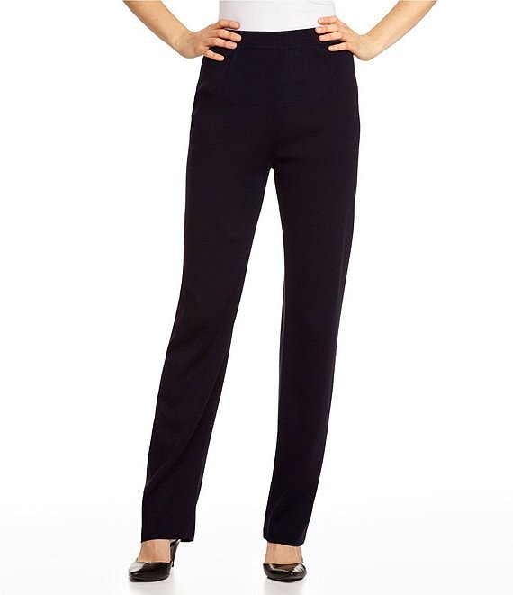 Misook Petite Size Pull On Straight Leg Pants Dillard S