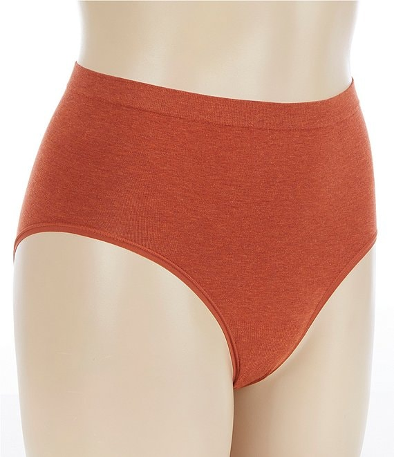 Color:Mango Heather - Image 1 - Heather Cotton Seamless Brief
