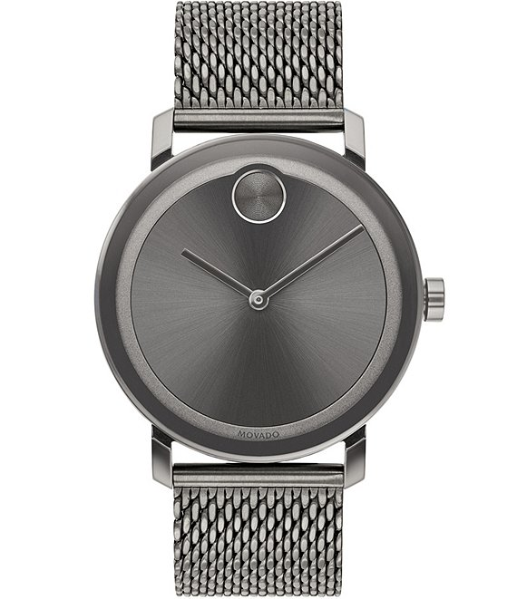 Color:Grey - Image 1 - Bold Evolution Grey Mesh Strap Bracelet Watch