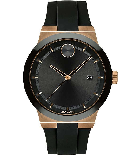 Movado Bold Men's Black Bronze Swiss Quartz Fusion Watch