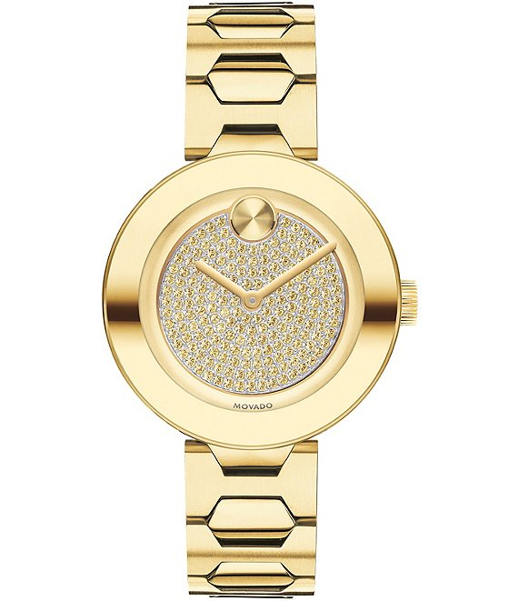 Movado Bold Pale Gold Ion-Plated Stainless Steel Mid-Size Watch