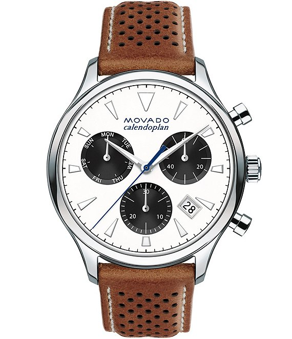 Movado Heritage Series Calendoplan Chronograph & Date Watch
