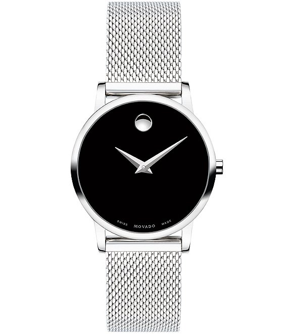 Color:Black - Image 1 - Museum Classic Stainless Steel Black Watch
