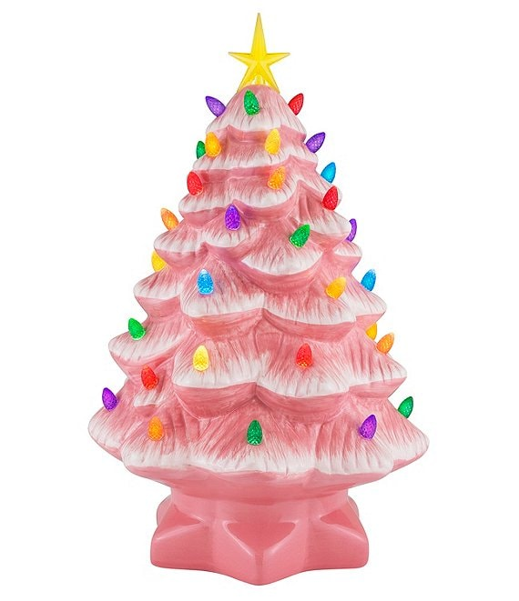 Mr. Christmas 14#double; Lit Nostalgic Pink Christmas Tree