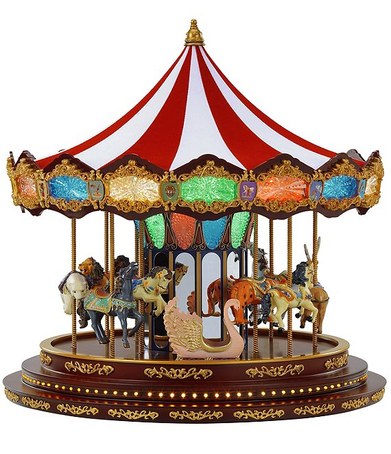 Mr Christmas Carousel.Mr Christmas Deluxe Marquee Carousel