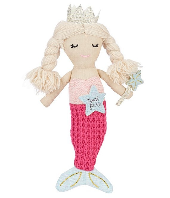 Mud Pie 8#double; Plush Mermaid Tooth Fairy Doll