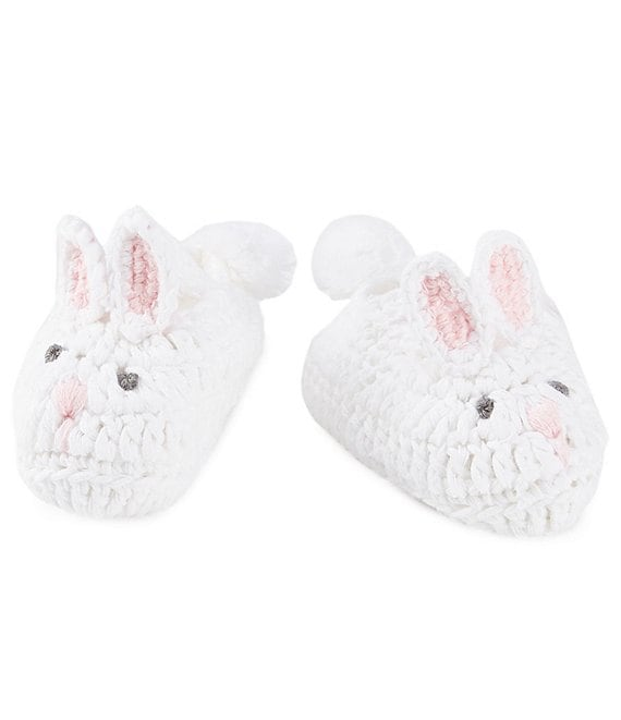 Mud Pie Baby Girls Newborn 3 Months Bunny Crochet Booties Dillards
