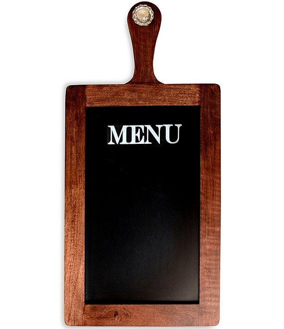 Mud Pie Door Knob Wooden Paddle Menu Chalkboard Sign
