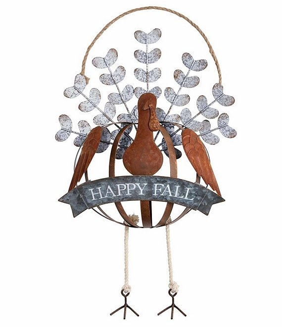 Mud Pie Festive Fall Collection Turkey Door Hanger
