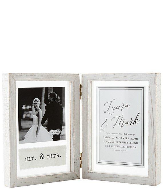 Mud Pie Wedding Collection 4x6 Hinge Wedding Frame Dillard S