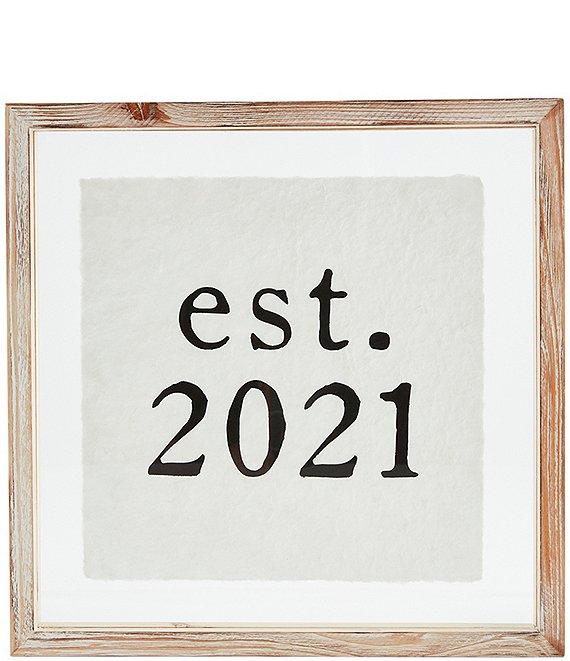 Mud Pie Wedding Collection Est 2021 Wood Plaque Dillard S