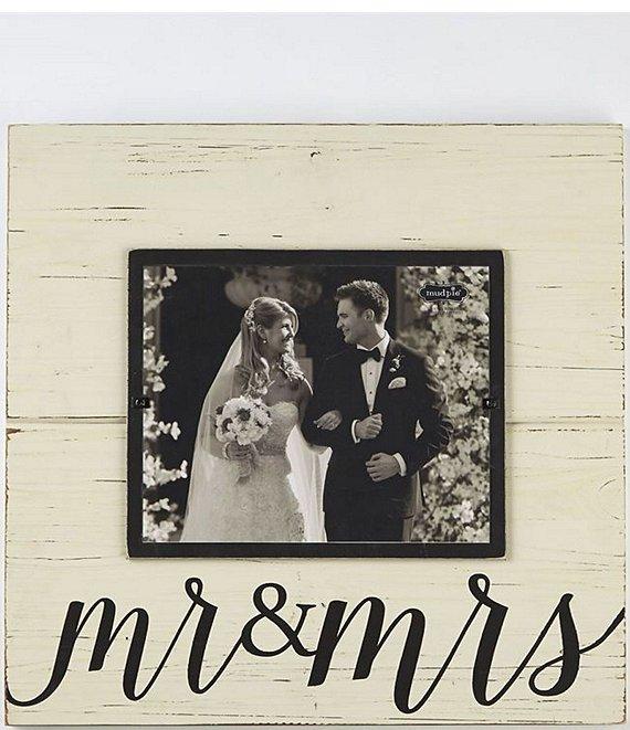 Mud Pie Wedding Mr Mrs Distressed Wood 8x10 Frame Dillard S