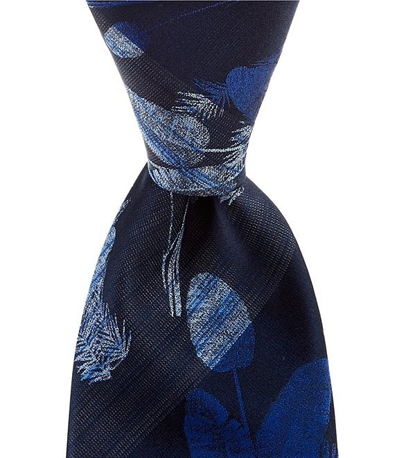 Color:Blue - Image 1 - Aronson Palm Narrow 3 1/8#double; Tie