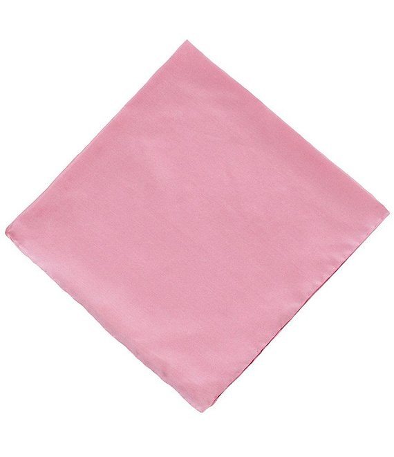 Color:Berry - Image 1 - Silk Pocket Square